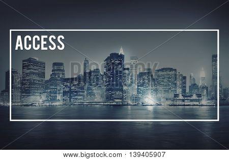 Access Obtainable Unlock Availability Approachable Concept