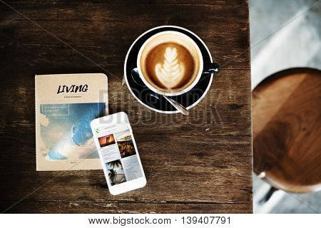 Coffee Caffeine Book Cafe Relax Refreshment Concept