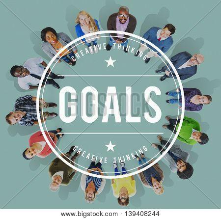 Goals Mission Hopeful Success Aim Concept