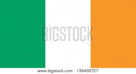 Vector Republic of Ireland flag