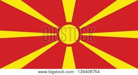 Vector Republic of Macedonia flag