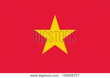 Vector Socialist Republic of Vietnam flag
