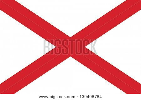 Vector State of Alabama flag