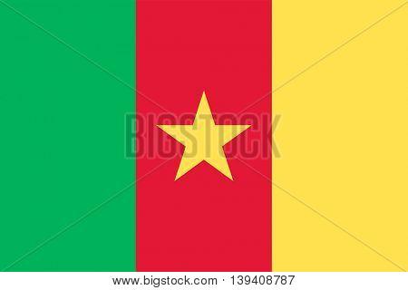 Vector Republic of Cameroon flag