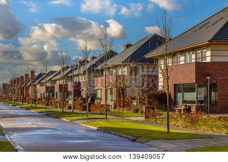 Detached Family Houses In A Quiet Street