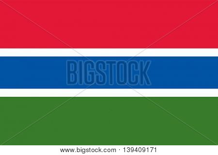 Vector Republic of the Gambia flag