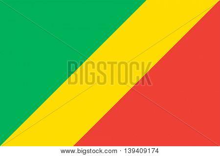 Vector Republic of the Congo flag