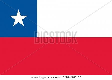Vector Republic of Chile flag
