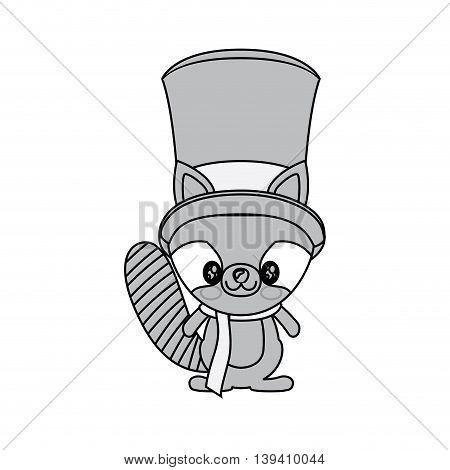 kawaii animal style with Christmas theme isolated icon design, vector illustration graphic