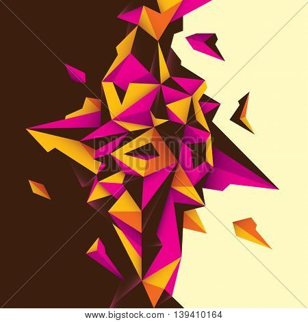 Futuristic style abstraction. Vector illustration.