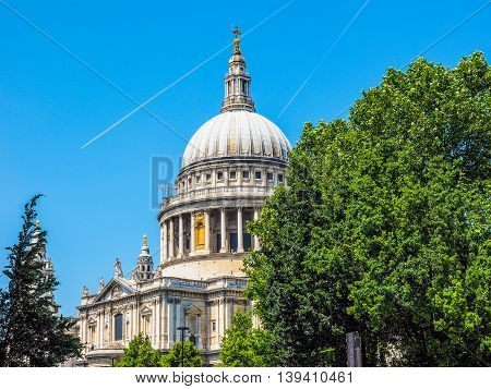 St Paul Cathedral In London Hdr