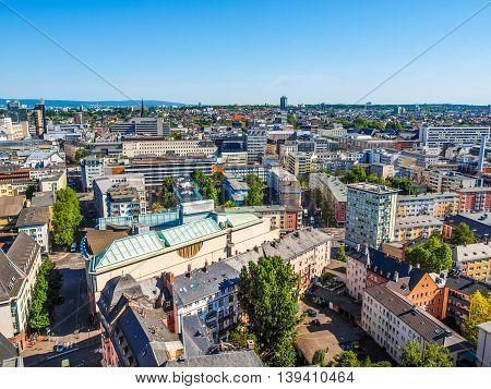 Aerial View Of Frankfurt Hdr