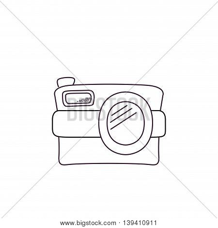 white retro camera isolated icon design, vector illustration graphic