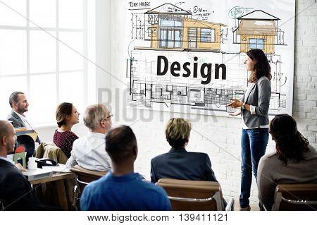 Design Housing Construction Blueprint Interior Concept