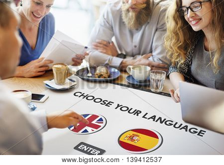 Language Dictionary English Spanish Concept