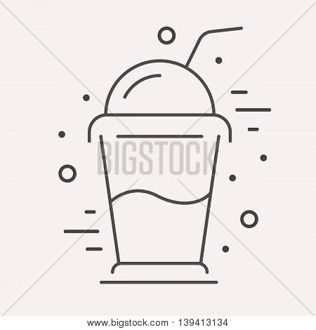 logo or label drink. Line style logotype template with coctail. Easy to use business template. Vector abstract logo or emblem.