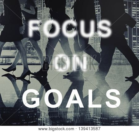 Focus On Goals Text Graphics Concept