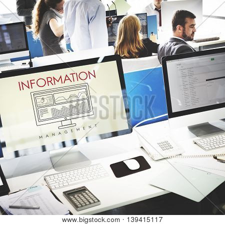 Information Data Analytics Business Results Concept