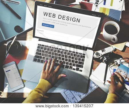 Website Design Homepage Layout Creativity Concept