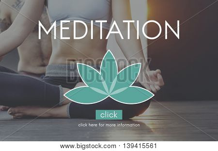 Meditation Healthcare Lotus Flower Graphic Concept