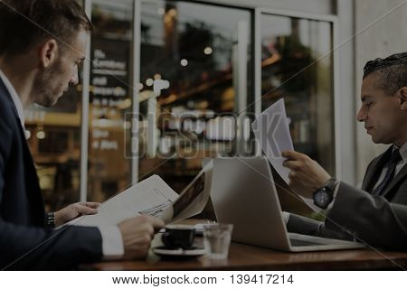 Contract Achievement Agreement Business Partner Concept