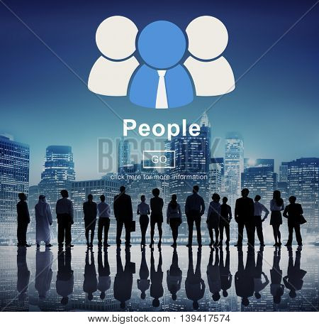 People Icon Community Homepage Information Concept