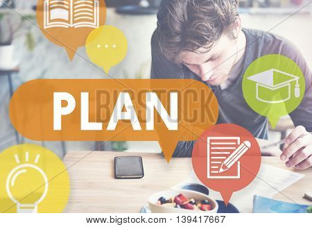 Plan Planning Education Strategy Concept