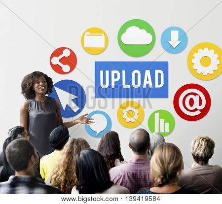 Upload Post Technology Word Graphic Concept