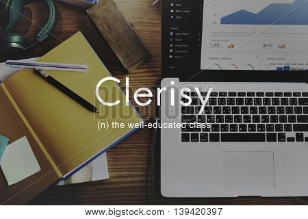 Clerisy Education Knowledge Learning Wise Concept