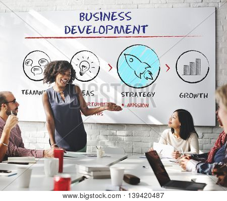 Business Development Plan Growth Strategy Concept