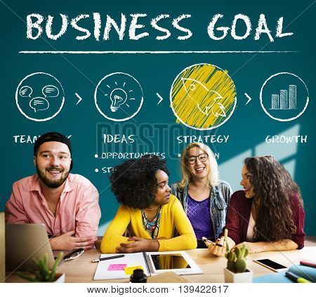 Business Goal Plan Growth Strategy Concept