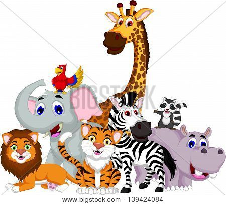 funny animal cartoon collection for you design