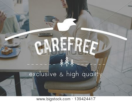 Carefree Coffee Break time Cafe Cafeteria Concept