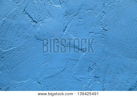 Wall painted in retro cyan blue texture