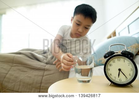 Glass Of Water In The Bedroom