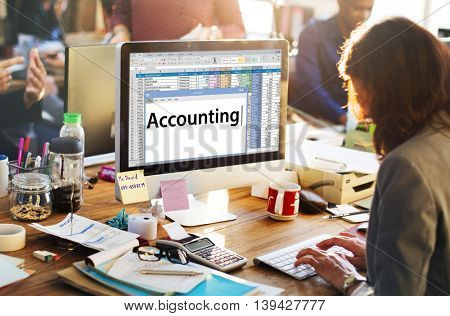 Accounting Business Bookkeeping Economy Concept