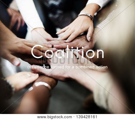 Coalition Association Alliance Corporate Union Concept