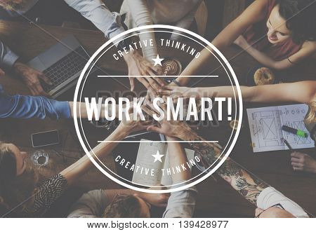 Work Smart Productive Effective Planing Working Concept