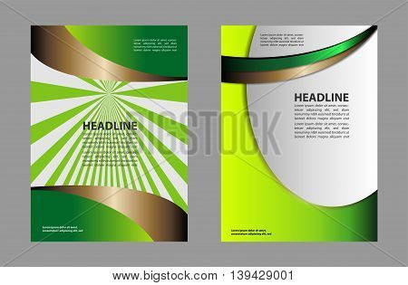Abstract Flyer or Cover Design. vector business brochure, flyer template