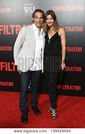 NEW YORK-JULY 11: Actors Paolo Mastropietro (L) and Jill Hennessy attend 'The Infiltrator' New York premiere at AMC Loews Lincoln Square 13 Theater on July 11, 2016 in New York City.