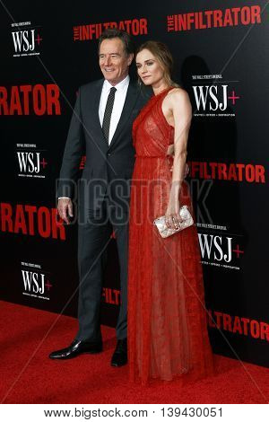 NEW YORK-JULY 11: Actors Bryan Cranston (L) and Diane Kruger attend 'The Infiltrator' New York premiere at AMC Loews Lincoln Square 13 Theater on July 11, 2016 in New York City.