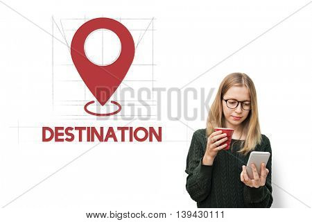 Navigation Location Mapping Destination Technology Graphic Concept