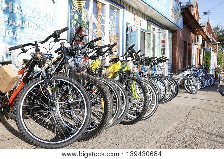 Bikes On The Street Of Kirov City In 2016