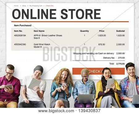 E-commerce Online Shopping Website Technology Concept