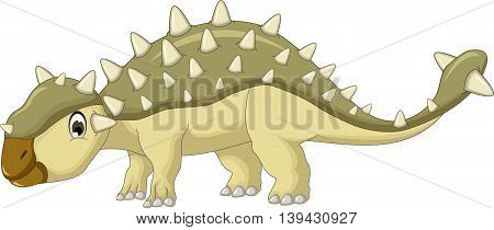 cute Ankylosaurus Dinosaur cartoon for you design
