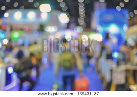 Abstract Of Blurred People Walking In Shopping Centre