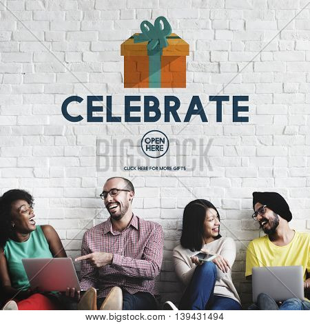 Celebrate Anniversary Enjoyment Event Happiness Concept