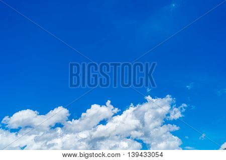 Background blue sky background with tiny clouds