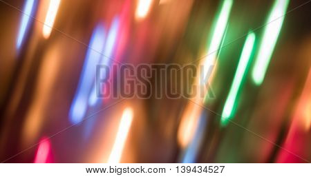 Lights blurred bokeh background from christmas night party for your design