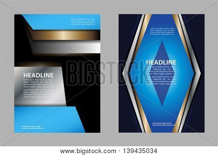 Abstract blue and red background with wave - brochure design or flyer